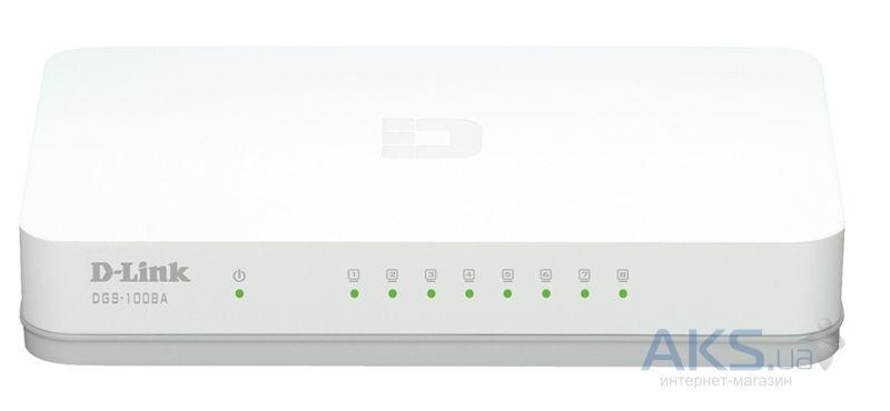 Коммутатор (свитч) D-Link DGS-1008A (8*GE, plastic)
