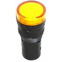 Лампа AD-16DS LED-матрица d16мм желтый 220В AC/DC
