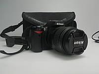 Nikon D60 c объективом Nikon 18-55mm маленький пробег, фото 1