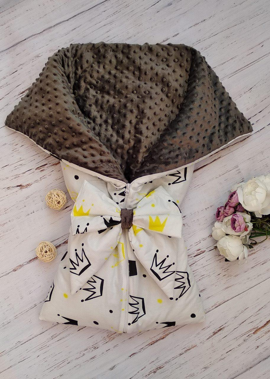 Двухсторонний конверт-одеяло (конец лета/осень)