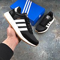 Женские Кроссовки Adidas INIKI Black  | Реплика
