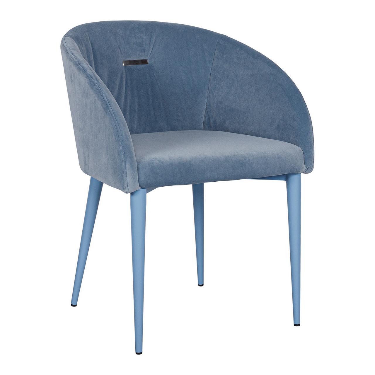 Велюровое кресло ELBE (Эльба) голубое от Niсolas