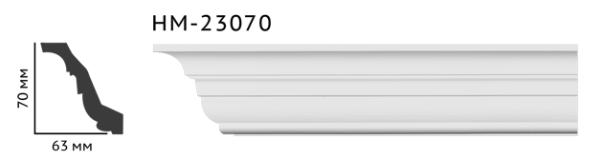 Карниз потолочный гладкий Classic Home HM-23070 , лепной декор из полиуретана