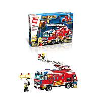 Конструктор, пожарная машина, фигурки, 366 деталей, 2807
