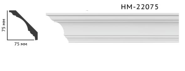 Карниз потолочный гладкий Classic Home HM-22075 , лепной декор из полиуретана