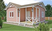 Каркасный дачный дом 6,0 x 6,0 м