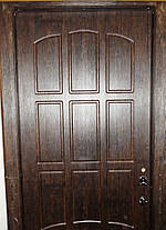 Входная дверь модель Т-3 121 тиковое дерево (тройной притвор) ЗАМОК МОТТУРА 54797 ДВУХСИСТЕМНЫЙ, фото 2