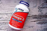 Омега-3 1000 мг NOW- 200 капсул