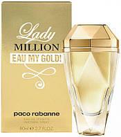 Женская туалетная вода Paco Rabanne Lady Million Eau My Gold (80 мл ), фото 1