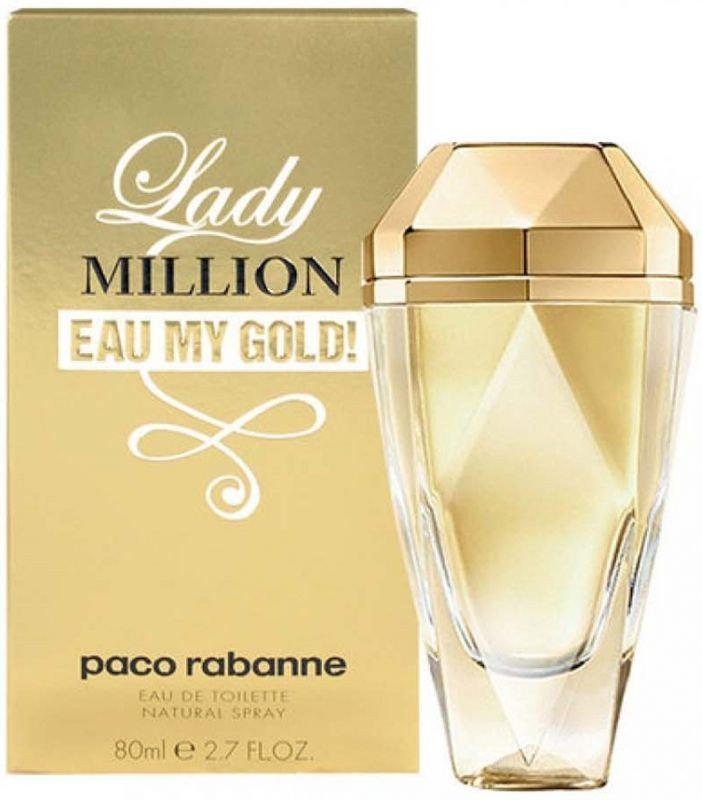 Женская туалетная вода Paco Rabanne Lady Million Eau My Gold (80 мл )