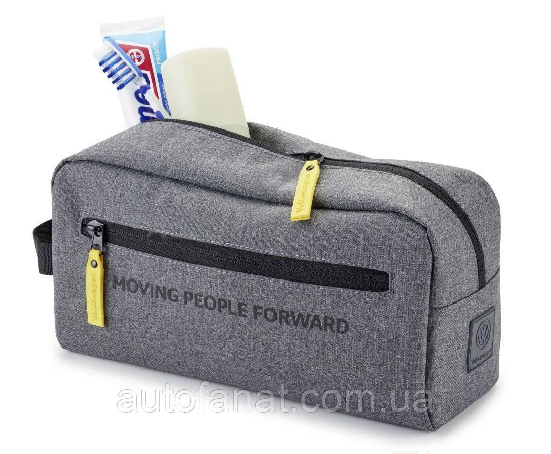 Оригинальный дорожный несессер Volkswagen Toiletries Bag, Moving People Forward, Grey (33D087317)