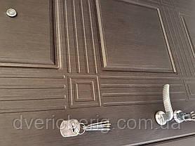 Входная дверь модель П5-345 Венге южный / Белая текстура, фото 2