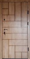 Входная дверь модель П4-ПАРКЕТ спил дуба патина с наружы