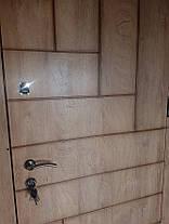 Входная дверь модель П4-ПАРКЕТ спил дуба патина с наружы, фото 2