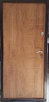 Входная дверь модель П4-ПАРКЕТ спил дуба патина с наружы, фото 3