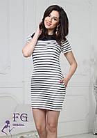 Летнее короткое платье в полоску, фото 1
