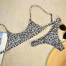 Роздільний Купальник жіночий леопардовий, фото 4