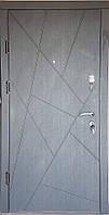 Входная дверь модель П4-AБСТРАКЦИЯ венге / белая текстураое дерево, фото 1