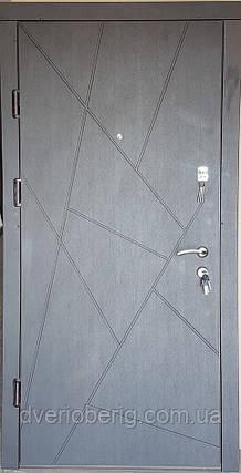 Входная дверь модель П4-AБСТРАКЦИЯ венге / белая текстураое дерево, фото 2