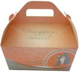 """Коробки для свадебного каравая """"Жених и невеста"""""""