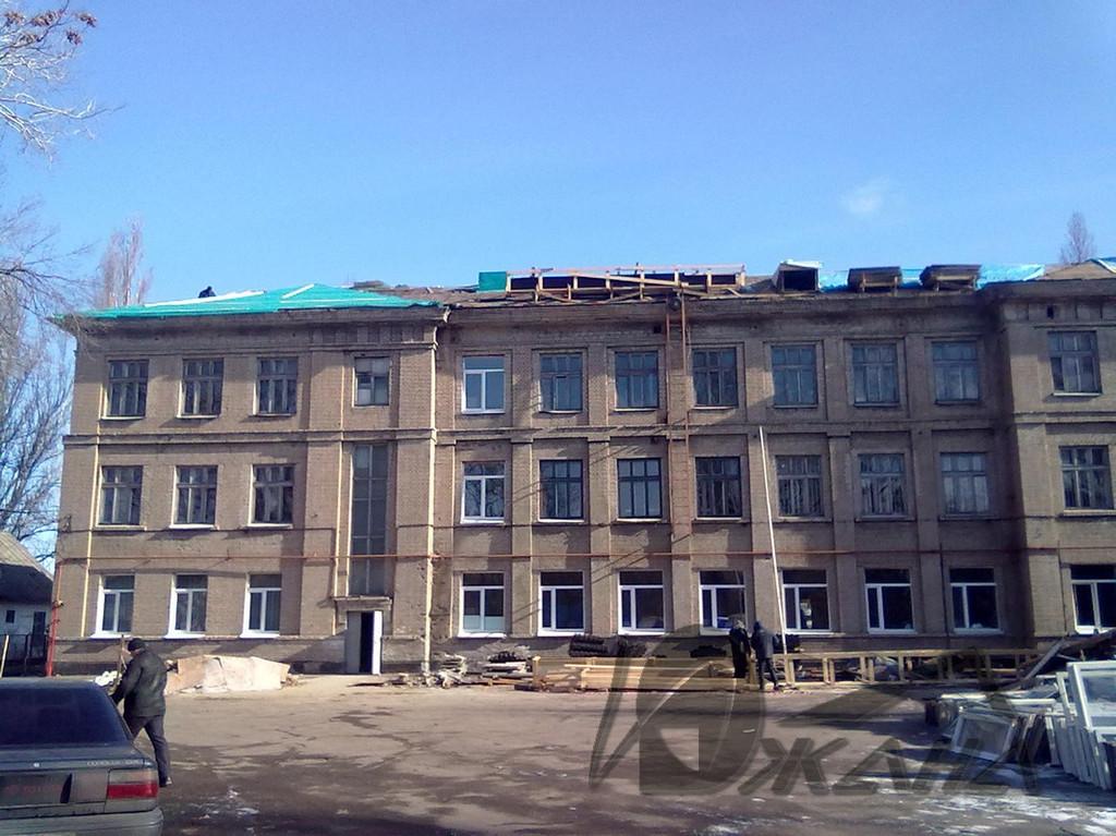 СШ №42 по ул. Ростовская, 88 в г. Днепропетровске. Реконструкция кровли. 1