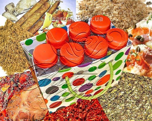 Набір спецій «Приправи вишукані» у 7 пластикових ємностях