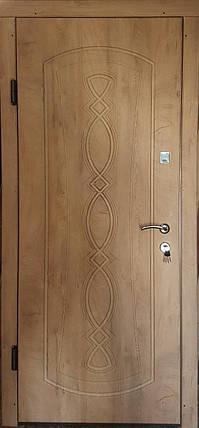 Входная дверь модель П3-348 спил дерева медовый, фото 2