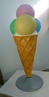 Мороженое рожок (шарики) рекламное пластиковое от Эльф.
