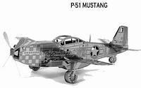 Металлический конструктор P-51 Mustang