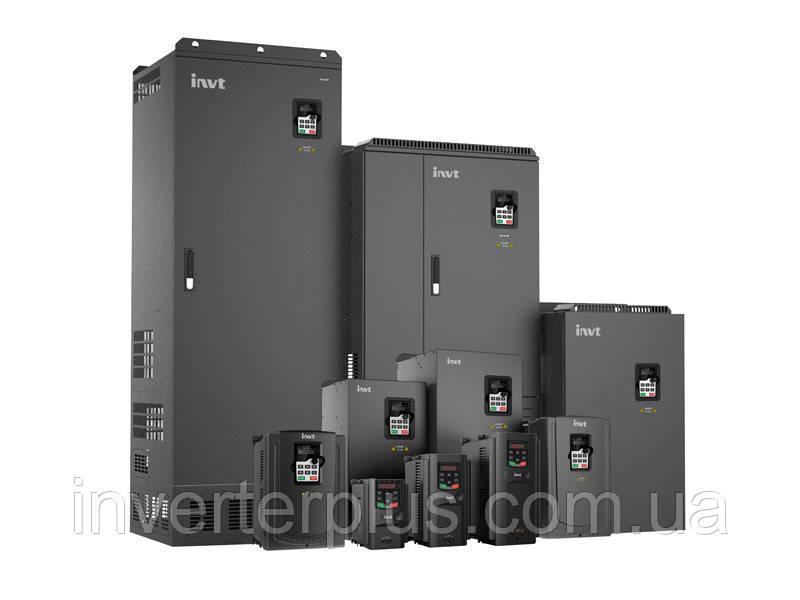 220кВт/380В; 425А. Перетворювач частоти INVT GD200A-220G/250P-4