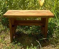 Табурет деревянный сосна с полкой. 28х20х44см. Цвет Орех. IP44