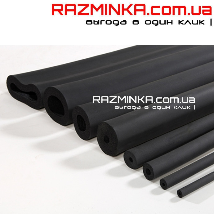Каучуковая трубка Ø64/19 мм (теплоизоляция для труб из вспененного каучука)