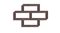 Полка на стену двухуровневая Дуб  Давос трюфель 1034х1100х250мм
