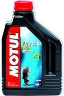 Моторное масло для 4-х тактных подвесных и кормовых двигателей MOTUL  OUTBOARD TECH 4T SAE 10W30 (2L)