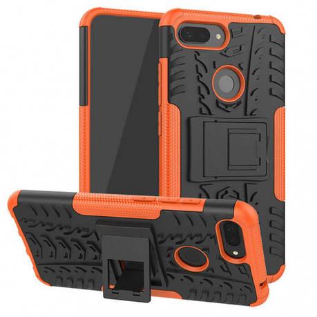 Чехол накладка Shield для Xiaomi Mi 8 Lite / Mi 8 X противоударные Оранжевый (968877), фото 2
