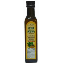 Масло семян амаранта, 250 мл, стекло темного цвета, пробка металлическая с дозатором (250мл.,Украина)