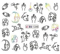 Слайдер водный для дизайна ногтей BN-1245