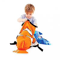 Детский рюкзак Trunki PaddlePak Рыбка оранжевый 0112-GB01-NP