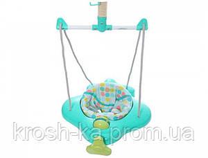 Прыгунки  детские мятные на резинке 2245