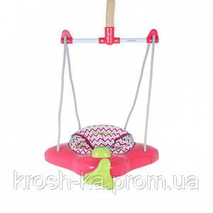 Прыгунки  детские розовые на резинке Китай 2245