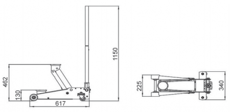 Домкрат подкатной 3т, BAHCO, BH1EU3000 , фото 2
