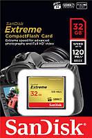 SDCFXSB-032G-G46 Карта памяти SanDisk 32GB CF Extreme R120/W85MB/s, SDCFXSB-032G-G46