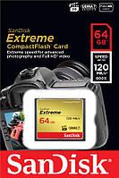 SDCFXSB-064G-G46 Карта памяти SanDisk 64GB CF Extreme R120/W85MB/s, SDCFXSB-064G-G46