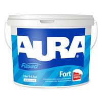 Атмосферостойкая силиконовая краска для фасадов AURA Fasad Fort  10л белая
