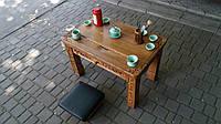 Резной чайной стол 80*50
