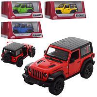 Машинка JEEP Wrangler, металева, інерційна, 1:34, 4 кольори, в коробці, 16-7-8,5 см