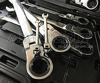 Набор комбинированных трещоточных ключей Alloid с карданом 8-32 мм 13 ед.НК-8701-13