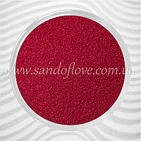 Бордовый (вишневый, марсала) цветной песок для свадебной песочной церемонии