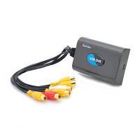 Первый RealTime 4-х канальный USB видеорегистратор с записью в D1 разрешении 100 к/c (модель QQ DVR 4VD1), фото 1