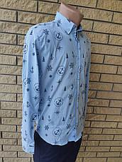 Рубашка мужская коттоновая брендовая высокого качества ONLINE, Турция, фото 3
